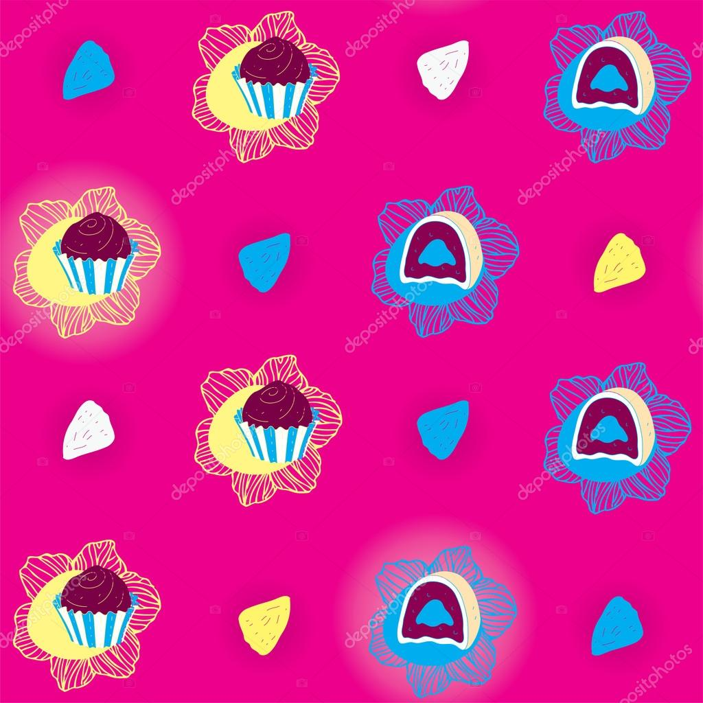 Candies Bright Seamless Pattern  Stock Vector #12730999
