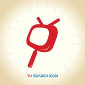Vector TV Search Icon — Stock Vector