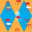 Stock Vector: Seamless Pattern With Chairs