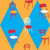 Seamless Pattern With Chairs — Stock Vector