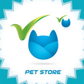 Vector Glossy Pet Shop Accept Icons, Button, Logo for Family, Baby, Children, Teenager — Stock Vector