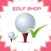 Vector Glossy Golf Shop Icons, Button for Baby, Child, Children, Teenager, Family — Stock Vector