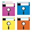 Vector Floppy Disks Illustration, Icons, Symbols — Stock Vector