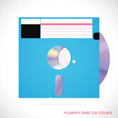 Old Fashion Floppy Disc Compact Disc, DVD, CD, CD-RW, DVD-RW Drive Cover Vector illustration, Icon, Symbol, Sticker — Stock Vector