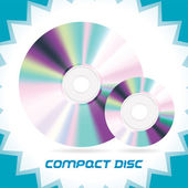 Two Vector Isolated Compact Discs , DVD, CD, CD-RW, DVD-RW — Stock Vector