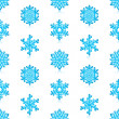 Royalty-Free Stock Vector Image: Glossy 3d Modern Blue Snowflakes Pattern