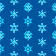 Glossy 3d Modern Deep Blue Snowflakes Pattern — Stock Vector