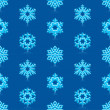 Glossy 3d Modern Deep Blue Snowflakes Pattern — Stock Vector #14585645