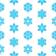 Glossy 3d Modern Blue Snowflakes Pattern — Stock Vector #14585961