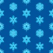 Royalty-Free Stock Vector Image: Glossy 3d Modern Deep Blue Snowflakes Pattern