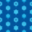 Glossy 3d Modern Deep Blue Snowflakes Pattern — Stock Vector #14586213