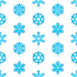 Glossy 3d Modern Blue Snowflakes Pattern — Stock Vector #14586325