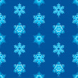 Glossy 3d Modern Deep Blue Snowflakes Pattern — Stock Vector #14586449