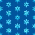 Glossy 3d Modern Deep Blue Snowflakes Pattern — Stock Vector