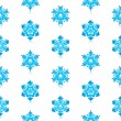 Glossy 3d Modern Blue Snowflakes Pattern — Stock Vector #14586463