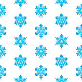 Glossy 3d Modern Blue Snowflakes Pattern — Vettoriale Stock