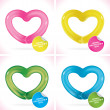 Royalty-Free Stock Obraz wektorowy: Glossy Balloon Happy Valentines Day Greeting Card with Heart, Icons, Button, Sign, Symbol, Logo for Baby, Family, Children, Teenager