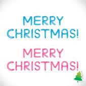Glansigt ballong merry christmas fras, bokstäver, illustration, sign, ikon, symbol för barnet, familjen, utbildning — Stockvektor