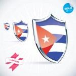 I Love Cuba Flag Illustration, Sign, Symbol, Button, Badge, Icon, Logo for Family, Baby, Children, Teenager — Stock Vector