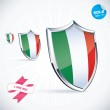I Love Italy Flag Illustration, Sign, Symbol, Button, Badge, Icon, Logo for Family, Baby, Children, Teenager — Stock Vector