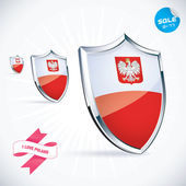 I Love Poland Flag Illustration, Sign, Symbol, Button, Badge, Icon, Logo for Family, Baby, Children, Teenager — Stock Vector