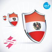 I Love Austria Flag Illustration, Sign, Symbol, Button, Badge, Icon, Logo for Family, Baby, Children, Teenager — Stock Vector