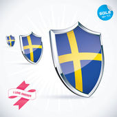 I Love Sweden Flag Illustration, Sign, Symbol, Button, Badge, Icon, Logo for Family, Baby, Children, Teenager — Stock Vector