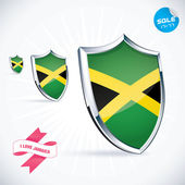 I Love Jamaica Flag Illustration, Sign, Symbol, Button, Badge, Icon, Logo for Family, Baby, Children, Teenager — Stock Vector