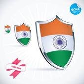 I Love India Flag Illustration, Sign, Symbol, Button, Badge, Icon, Logo for Family, Baby, Children, Teenager — Stock Vector