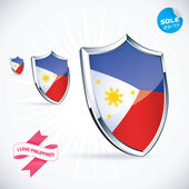 I Love Philippines Flag Illustration, Sign, Symbol, Button, Badge, Icon, Logo for Family, Baby, Children, Teenager — Stock Vector