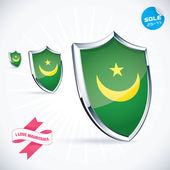 I Love Mauritania Flag Illustration, Sign, Symbol, Button, Badge, Icon, Logo for Family, Baby, Children, Teenager — Stock Vector