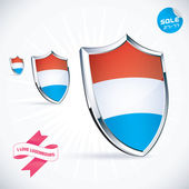 I Love Luxembourg Flag Illustration, Sign, Symbol, Button, Badge, Icon, Logo for Family, Baby, Children, Teenager — Stock Vector