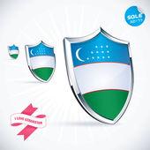 I Love Uzbekistan Flag Illustration, Sign, Symbol, Button, Badge, Icon, Logo for Family, Baby, Children, Teenager — Stock Vector