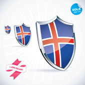 I Love Iceland Flag Illustration, Sign, Symbol, Button, Badge, Icon, Logo for Family, Baby, Children, Teenager — Stock Vector