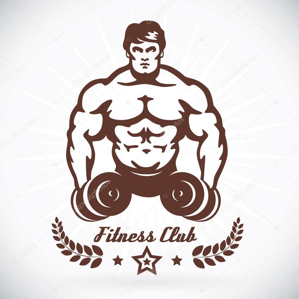 bodybuilder fitness modell abbildung zeichen symbol. Black Bedroom Furniture Sets. Home Design Ideas
