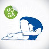 Ilustração de modelo fitness ioga, sinal, símbolo, botão, distintivo, ícone, logotipo para família, bebê, crianças, adolescente, spa — Vetor de Stock