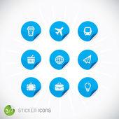 Sticker Icons — Stock Vector