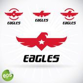 Eagle Symbol Illustration — Stock Vector
