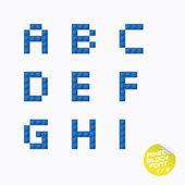 独有的像素块字母表 — 图库矢量图片