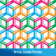 Optical Illusion Seamless Pattern — Stock Vector