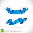 Blue Satin Ribbons Illustration — Stock Vector