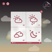 Weather Widget Illustration — Stock Vector