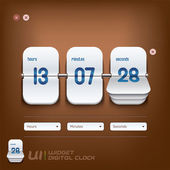 Digital Clock Illustration — Vettoriale Stock