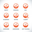 Vector Smile Icons — Stock Vector