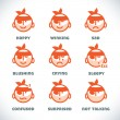 Vector Smile Icons — Stock Vector #51339645
