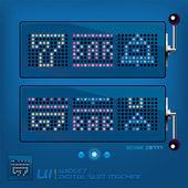 Digital Slot Machine — Stock Vector