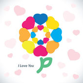 Love Greeting Card — Stock Vector