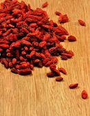 Dried , organic goji berries — Stock Photo
