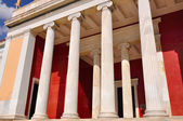 National Archaeological Museum in Athens , Greece. Colonnade at — Stock Photo