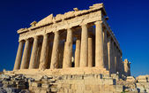 Parthenon , a temple on the Athenian Acropolis, Greece — Stock Photo